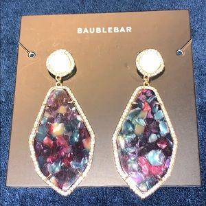 Bauble Bar Multicolored Resin Teardrop Earrings